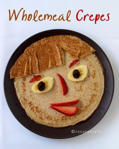 Kids tend to be very creative, especially in the kitchen. Here are 5 ways kids can play with crepes and learn at the same time. Toddler Meals, Kids Meals, Funny Food Pictures, Cute Food, Good Food, Butternut Squash Pasta, Creative Snacks, Food Art For Kids, Food Intolerance