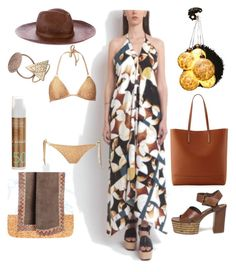 """#GreekSummer"" by harikleiatsirka on Polyvore featuring Gucci, Vic Matié, Ralph Lauren and Korres"