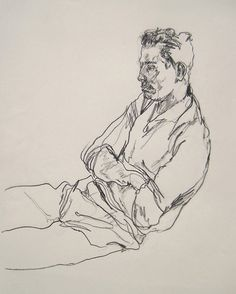 Tony drawn at his group home in New Jersey. Gregory Muenzen