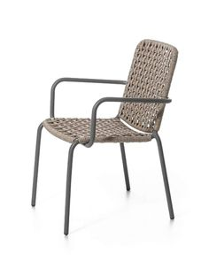 Design: Paola NavoneDimensions: 22.4x25.2x32.7x17.7in | 57x64x83x45cm (WxDxHxSeatH)Chair, light grey lacquered aluminum tubular frame, woven with a...