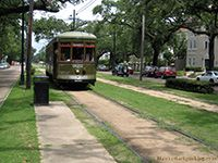 New Orleans streetcar.