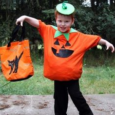 DIY Halloween : DIY No-Sew Jack O' Lantern Costume
