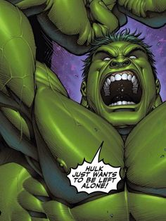 Hulk just wants to be left alone! By Dale Keown...