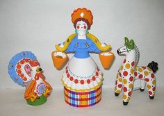 . Russian Folk Art, Clay Figures, Handicraft, Old Things, Christmas Ornaments, Holiday Decor, Crafts, Decorative Paintings, Advertising