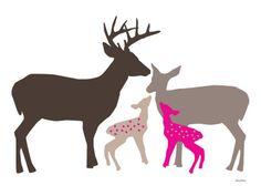 Pink Deer Poster by Avalisa at AllPosters.com