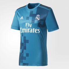 Camiseta Tercer Uniforme Real Madrid 2017 2018 - Verde  c484a1c0757bd