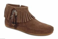 Women's Minnetonka Bootie with Concho - Taupe