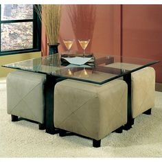 Coaster Cermak Contemporary Square Black Metal Base Gl Top Tail Table