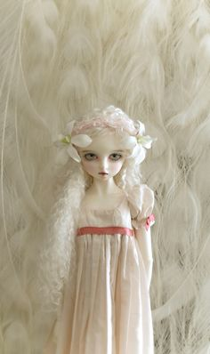 OOAK Doll White Feathers