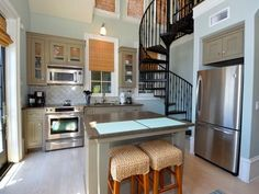 Full kitchen with stainless appliances perfect for meal or snack preparations