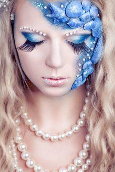 Verena by Julia Dresch. #model #female #girl #woman #beauty #portrait #mermaid #makeup #elegant #dream #dreamy #fairy #fairytale #juliadresch #sandralist #sl-makeup