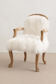 Luxe Fur Occasional Chair #anthrofave #uptownchic