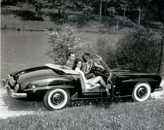 Bill Stanley of Winston-Salem's Piedmont Motors and Ms. North Carolina 1957 in a Mercedes Benz 190 SL. If you like Mercedes Benz 190 SL's please visit us on Facebook at https://www.facebook.com/190SL