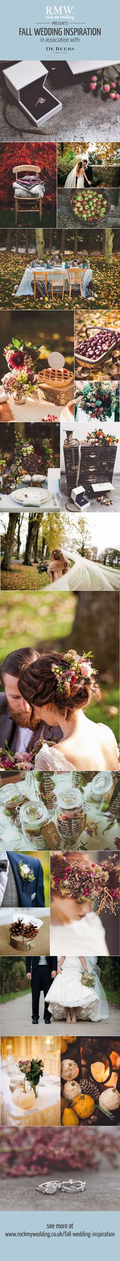 Fall And Autumn Wedding Styling Ideas | http://www.rockmywedding.co.uk/fall-wedding-inspiration/