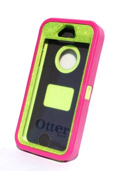 OtterBox Defender Series Case iPhone 5/5s Glitter Cute Sparkly Bling Defender Series Custom Case Pink / Green