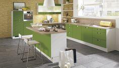 Einbauküche Perdita Grün