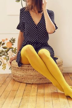 4020f7e55ae Colored tights are the sartorial equivalent of a secret weapon. Opaque  Tights