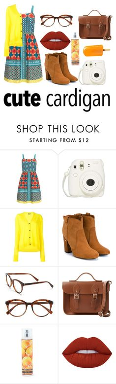 """""""Spring Layers"""" by thekittyciah ❤ liked on Polyvore featuring Adrianna Papell, Jil Sander Navy, Laurence Dacade, Derek Lam, The Cambridge Satchel Company, Nicole Miller, Lime Crime, cutecardigan and springlayers"""