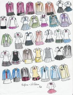 school uniforms 3rd edition by ~NeonGenesisEVARei on deviantART