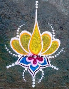Rangoli Designs Latest, Simple Rangoli Designs Images, Rangoli Designs Flower, Rangoli Border Designs, Rangoli Patterns, Colorful Rangoli Designs, Rangoli Ideas, Rangoli Designs Diwali, Flower Rangoli