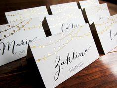 Märchen leuchtet Hochzeit Tischkarten Name von LittleBridgeDesign