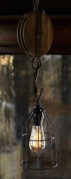 Rustique Railway Sleeper Chandeliers avec effet usé en Métal Argenté Gothique 2 Tailles