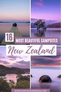 16 Best Campsites in New Zealand to Check Out - Anita Hendrieka Brisbane, Melbourne, Sydney, New Zealand Itinerary, New Zealand Travel Guide, Beautiful Places To Travel, Cool Places To Visit, Places To Go, Australia Travel Guide