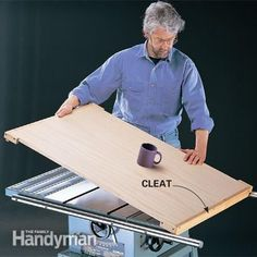 Woodworking Techniques You can use your table saw as a workbench by making a plywood cover. - Do more with your table saw