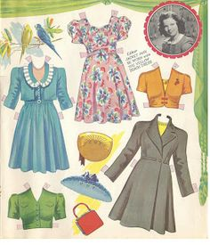 The New Shirley Temple, 1942 * 1500 free paper dolls at Arielle Gabriel's The International Paper Doll Society for paper doll pals at Pinterest, thanks to all of you..! *