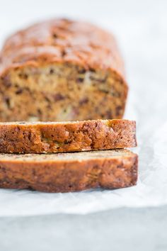 My Grandma's Banana Bread is super moist, totally easy, and packed full of chopped walnuts.