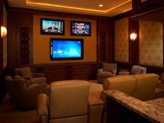 Home Builders in Tampa, Alvarez Homes Design The Milkey Media Room - contemporary - Home Theater - Tampa - Alvarez Homes