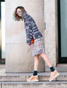 #IreneKim in star print Stella McCartney platforms. Paris