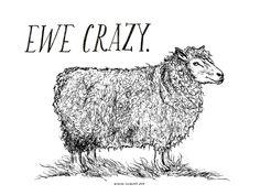 Ewe Crazy / Mini Print