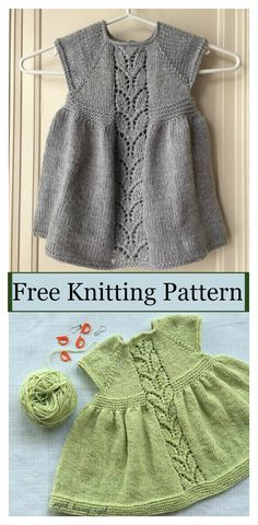 Next Post Previous Post Leaf Love Baby Dress Free Knitting Pattern Blatt-Liebes-Baby-Kleid Free Knitting PatternBlatt-Liebes-Baby-Kleid-freies strickendes Muster Source byThis Leaf Love Baby Dress Free Knitting Pattern is a timeless dress with simple yet Kids Knitting Patterns, Knitting For Kids, Free Knitting, Sewing Patterns, Knitting Ideas, Free Baby Knitting Patterns, Sewing Ideas, Knitting Projects, Knit Baby Dress