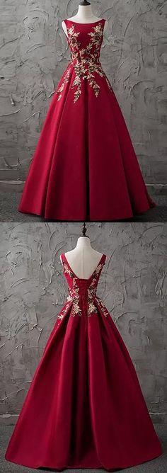 Bateau Floor-length A-line,Sleeveless Satin Prom Dress,Evening Dress
