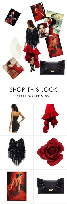 """""""Untitled #88"""" by ameun ❤ liked on Polyvore featuring Jacquemus, Chicwish and Jimmy Choo"""