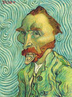 Vincent van Gogh  Caricature by Walter Toscano , Peru