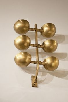 Pietro Chiesa; Brass Wall Light for Fontana Arte, c1936.