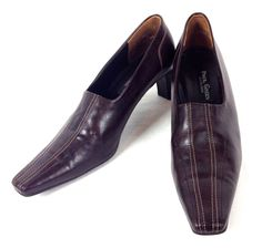 Paul Green Shoes Brown Leather Heels Booties Womens 9 M #PaulGreen #PumpsClassics