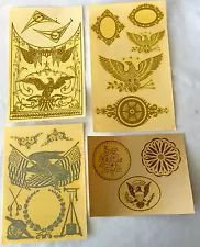 Lot Of Decal Transfers For Glass Shelf Mantle Wall Clock