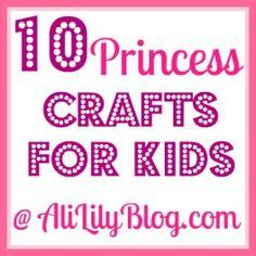 10 Princess Crafts and An Easy Tutu Tutorial@Kim Yocom Osterlund  Look @ the princess bracelet!!!!