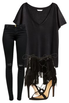 """""""Untitled #315"""" by rhiannonkennedy ❤ liked on Polyvore featuring H&M, J Brand and Schutz"""