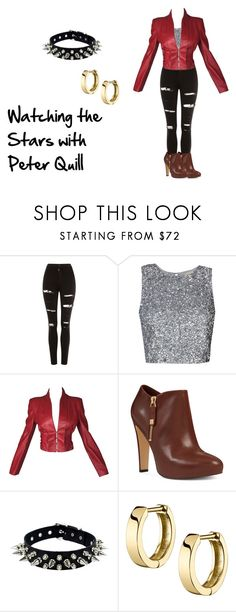 """""""Watching the Stars with Peter Quill"""" by wildest-dreams-128 on Polyvore featuring Topshop, Alexander McQueen, Nine West and marvel"""