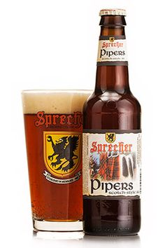 Sprecher's Piper Scotch Style Ale.   This hearty red-brown ale has a slight, smokey aroma complexed with caramel and lightly toasted malt. The flavor is malty, yet very smooth, with a delicate hop finish and a creamy head.  Piper's Scotch Ale Facts Alcohol by Volume: 8.27% Degrees Plato (Initial Gravity): 18P Weeks Aged: 12 Bitterness Units: 21 IBU Year First Brewed: 2002 Serving Temperature: 50° Malts: Aromatic, Caramel, Pale, Roasted, Vienna Hops: Goldings, Hallertau