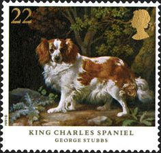 Royal Mail Special Stamps | Dogs King Charles Spaniel. George Stubbs