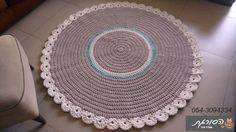 שטיחים סרוגים/שטיח סרוג/שטיח עגול/שטיח טריקו | הסורגת עפרה בכר | מרמלדה מרקט