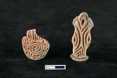 Catal Huyuk - Stamp seals such as this example were probably used to stamp designs on human or animal skin.