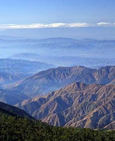The view from Pico Duarte, Dominican Republic.  Tallest mountain in the Caribbean.