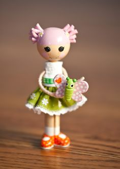 A Blossom Flowerpot clothespin doll I made for a sweet little Lalaloopsy fan's birthday party!
