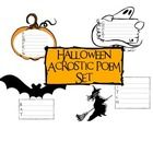 Free! Boo, Bats, and Pumpkins!  Happy Halloween :)This acrostic poem set is perfect for teaching poetry in October....